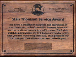 Stan Thomson Award